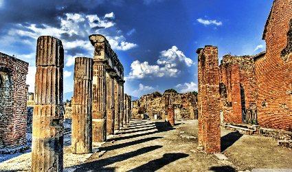 Pompei e Vesuvio con pizza